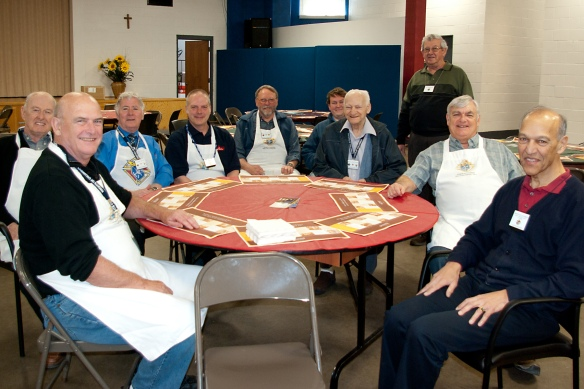 Part of the team that hosted the pancake breakfast, April 21, 2013.