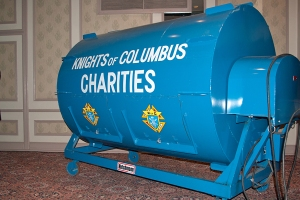 Knights of Clumbus charities raffle drum, Toronto, May 19, 2013