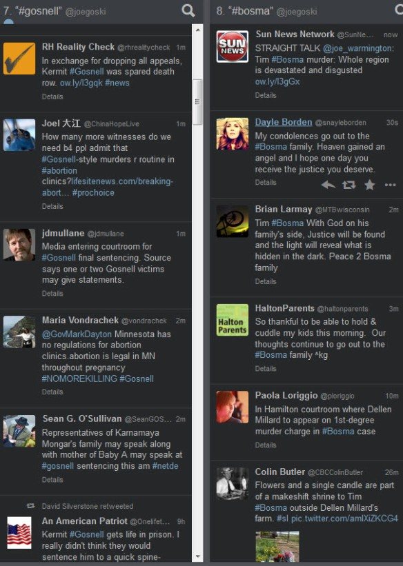 Tweetdeck - image of tweets