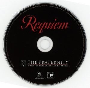 CD Requiem, Priestly Fraternity of St Peter